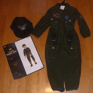 Naval FLIGHT SUIT Aviator Army Costume 3T/4T  NWT